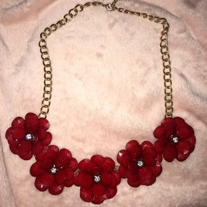 Chunky Flower Statement Necklace